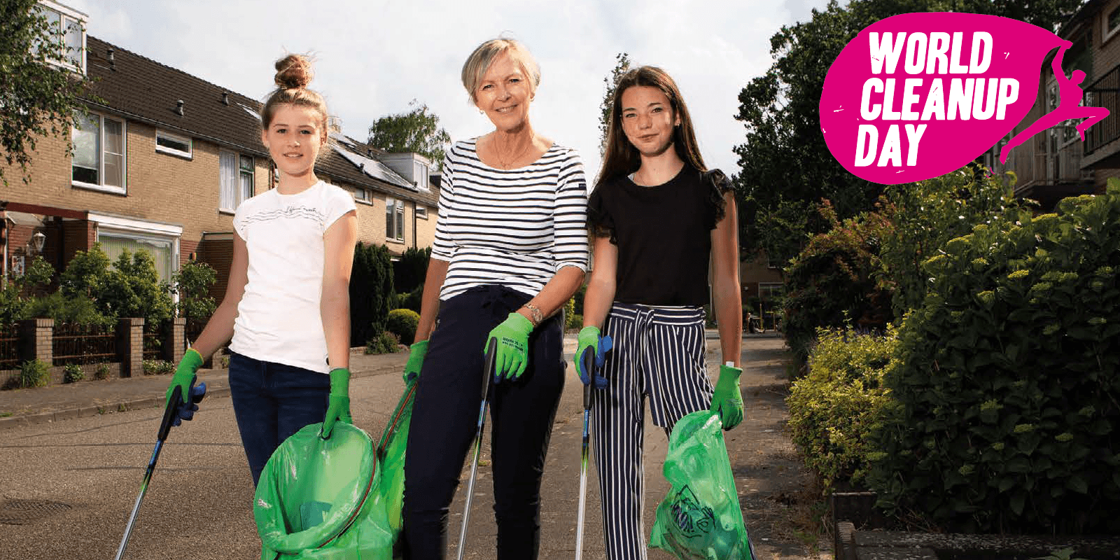 Wereldwijd opschonen begint in je eigen buurt.  18 september World Cleanup Day. Doe jij ook mee?